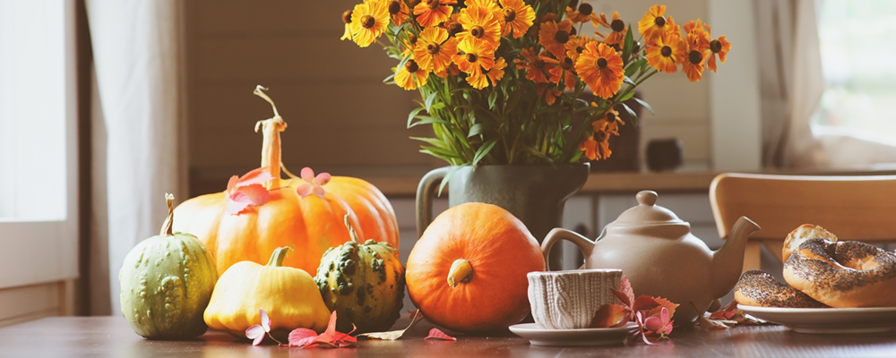 Fall decor trend with pumpkins