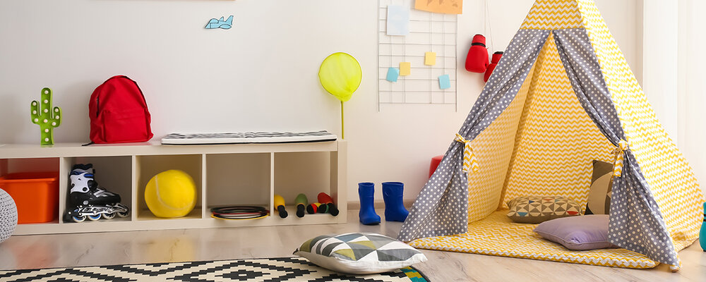 Nap space in kids playroom
