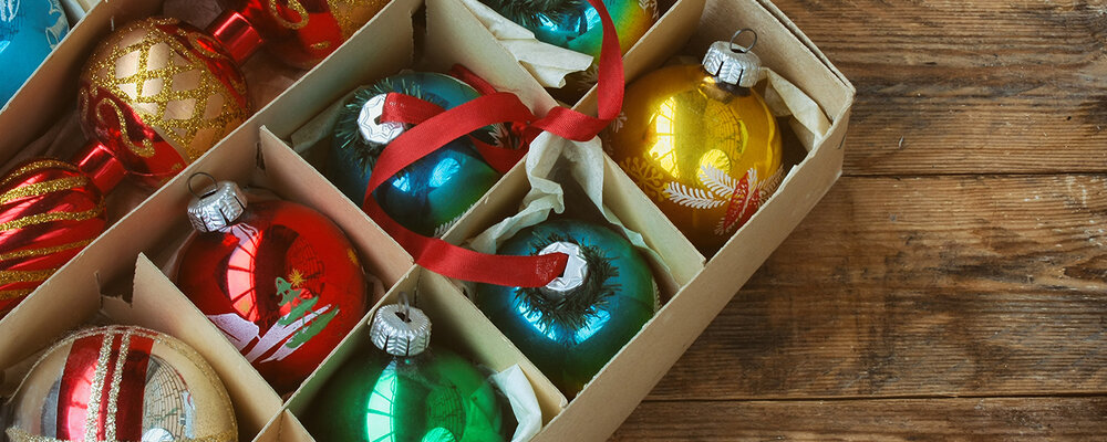 Holiday storage idea for ornaments