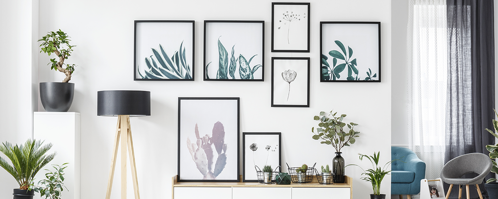 Gallery wall for corner decor idea