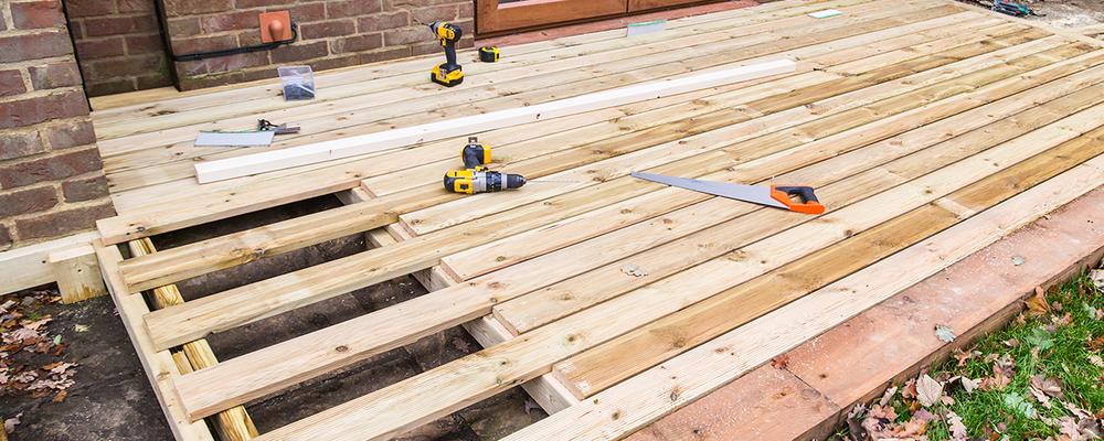 Patio deck for backyard