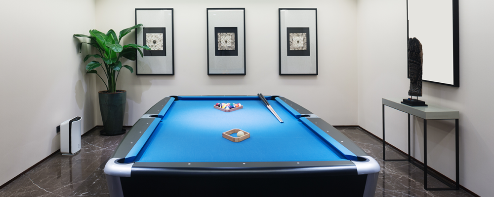 Games room makeover with pool table