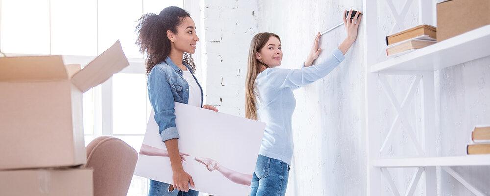 Women hanging wall art