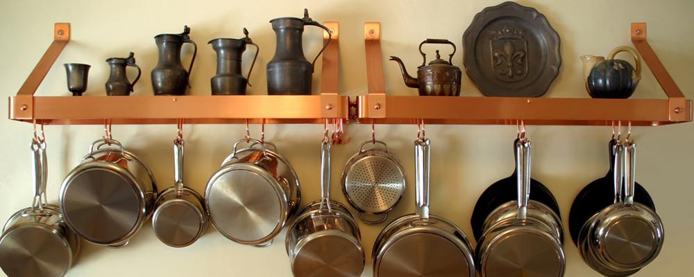 Kitchen organization hacks with hooks