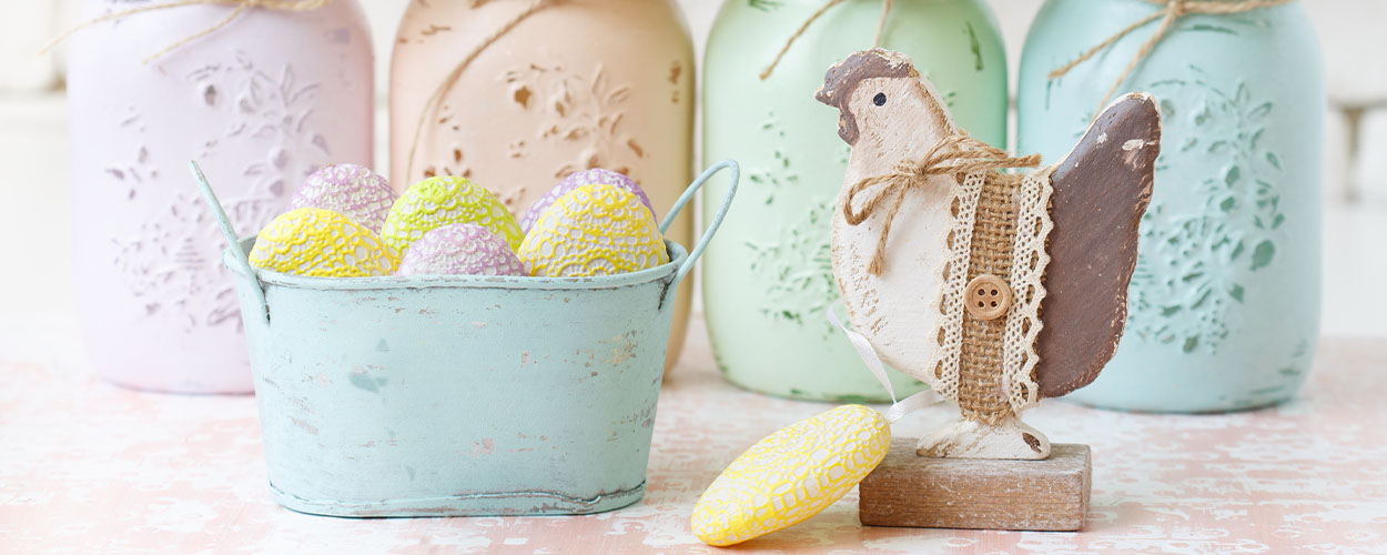DIY mason jars for Easter