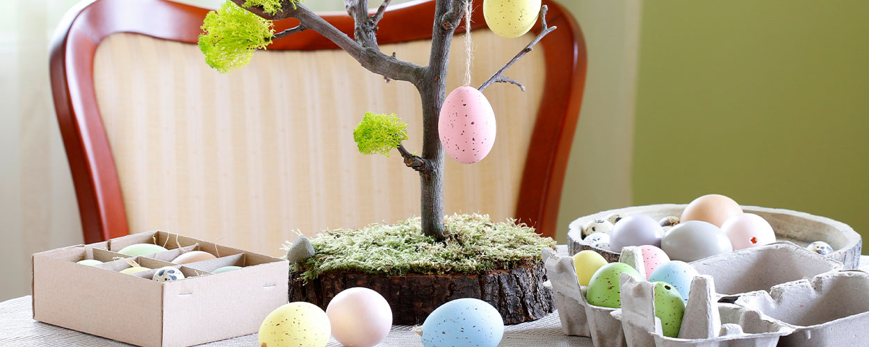 Mini Easter egg tree