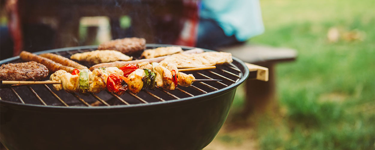 Grilling during summertime