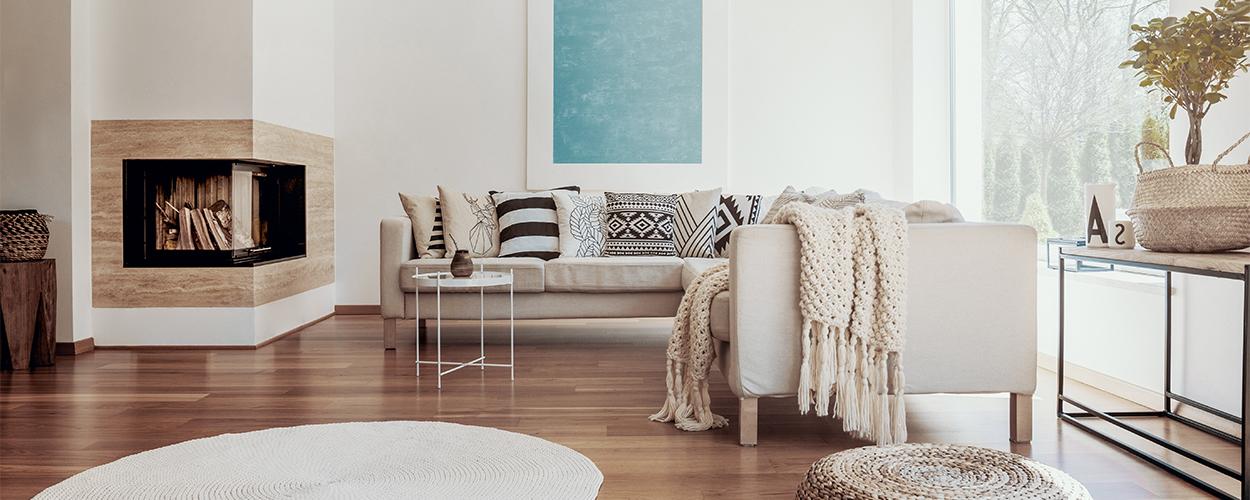 Floor cushion for living room seating idea