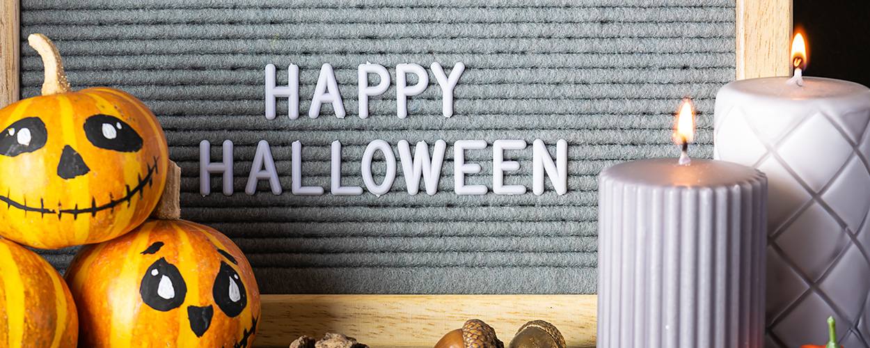 Halloween letter board quote
